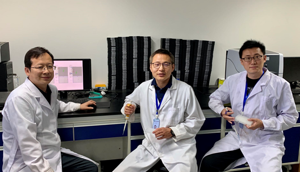 Research group led by Dr. Shuancang Yu from the Beijing Vegetable Research Center (BVRC). From left to right: Shuancang Yu (Deputy Director, BVRC), Tongbing Su (Associate Professor, BVRC), Peirong Li (Assistant Professor, BVRC).