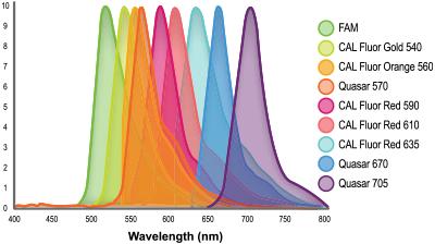biosearch-dye-wavelengths